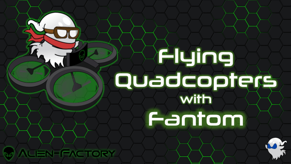 Fanny riding a quadcopter